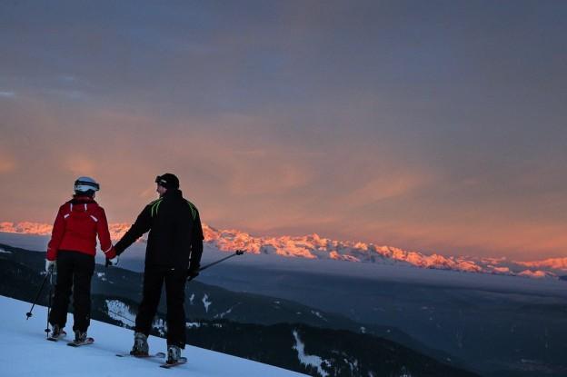 Alba sulle piste del Trentino