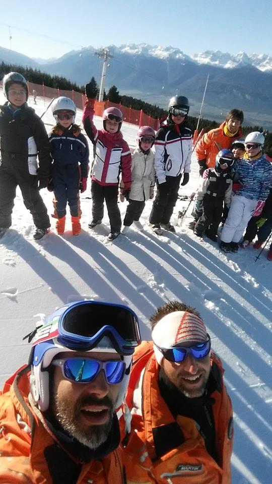 i Maestri di sci della predaia i meio con i bambini!