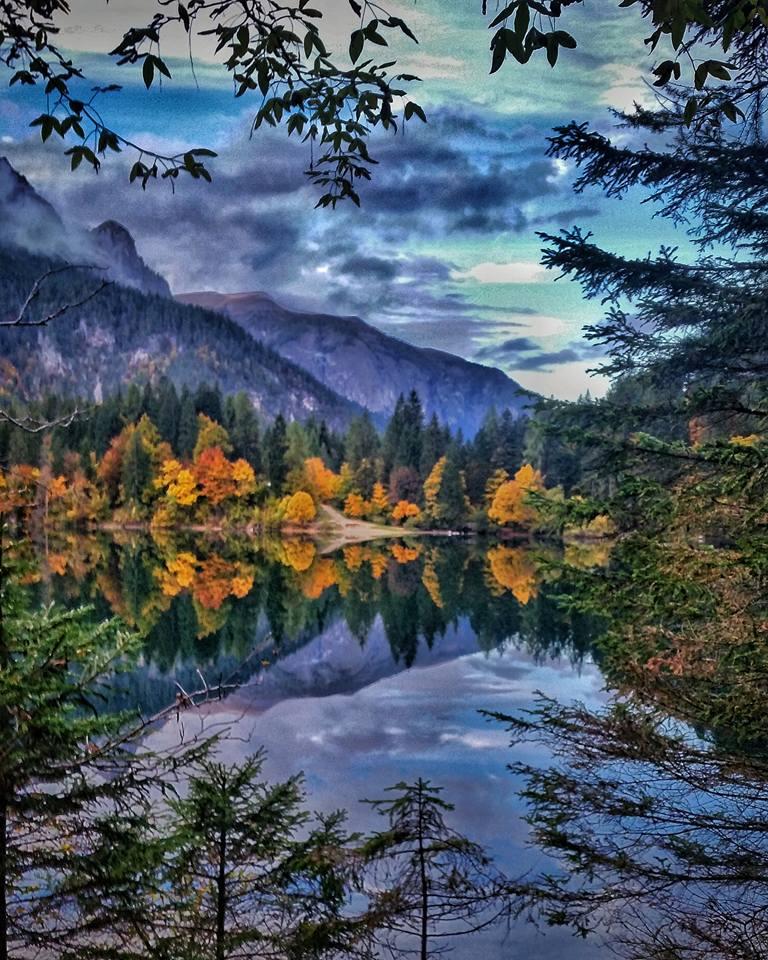 #foliage con i fiocchi al lago di Tovel