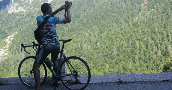 In bici da corsa sulle salite del Trentino