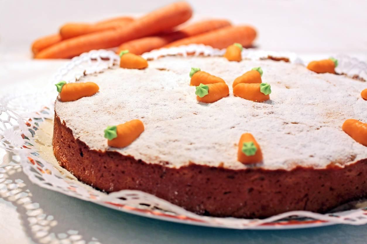 Foto della torta di carote soffice preparata da nonna Bianca