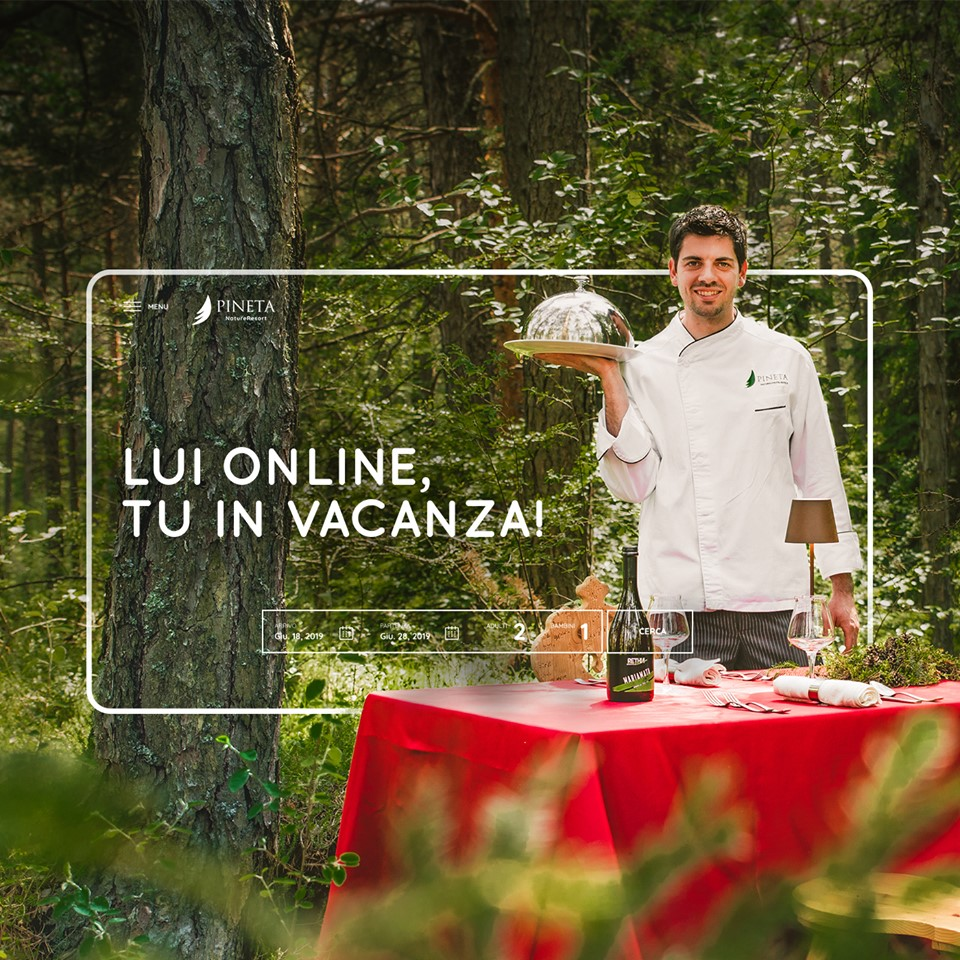 Mattia Sicher, nipote del leggendario Bruno, oggi chef del Pineta Nature Resort