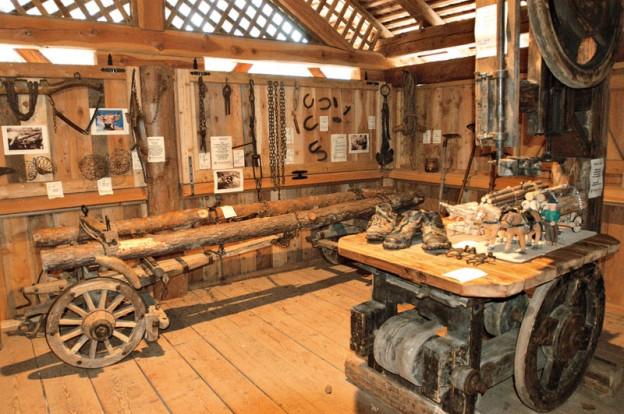 Il piccolo museo del lengo Trentino annesso alla segheria
