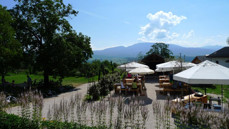 Panorama dal Giardino della Biodiversità della Val di Non