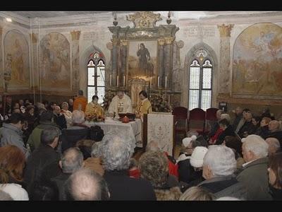 Momenti della santa messa al santuario