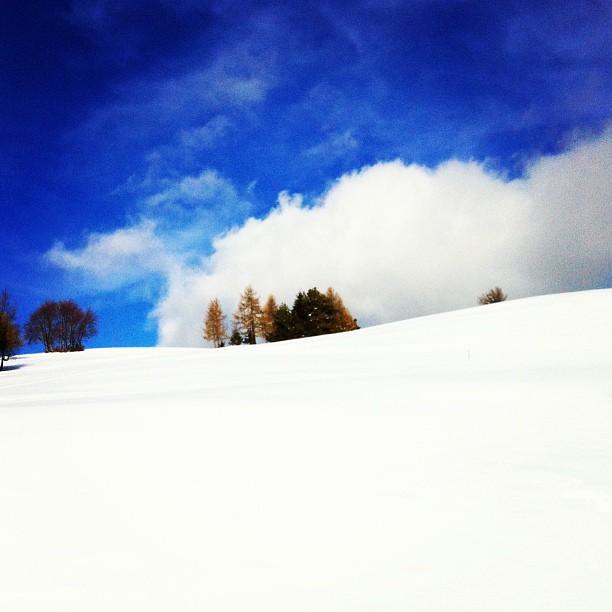 Panorama sulla neve della Predia