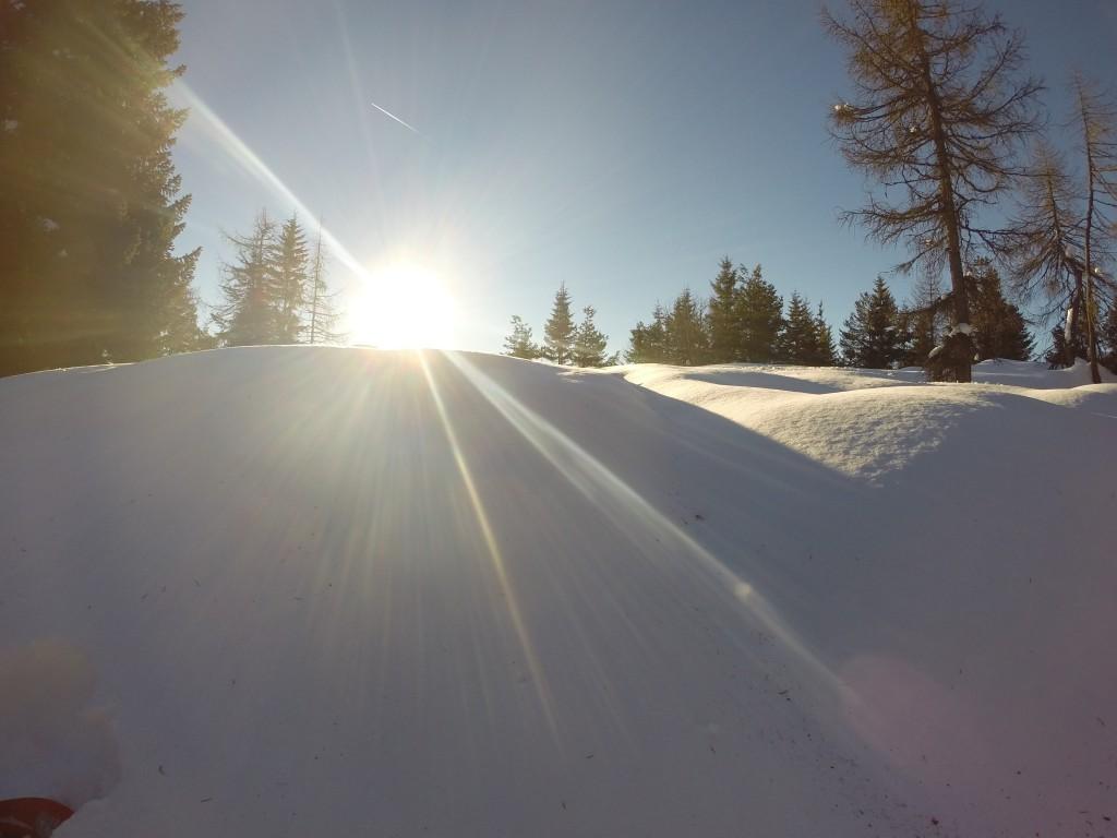 IL sole all'alba sul monte Roen
