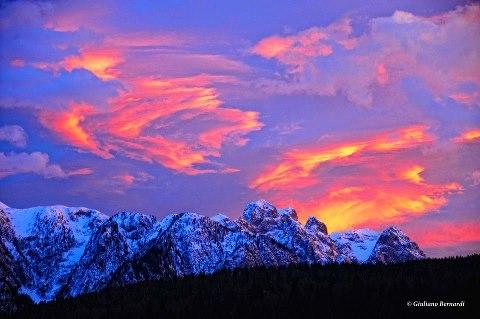 Enrosadira al Tramonto sulle Dolomiti di Brenta