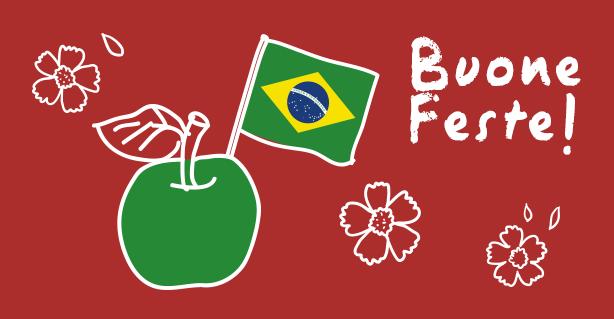 Il nostro cuore vola in Brasile.