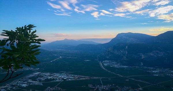 Vista panoramica dal monte di Mezzocorona