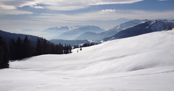 snowshoeing in the Italian Alps