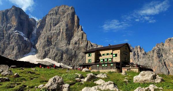 alpine huts Brenta Dolomites