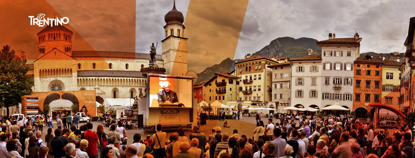 Volantino dedicato al Festival dell'Economia 2019 dalla Provincia Autonoma di Trento (immagine ufficiostampa.provincia.tn.it)