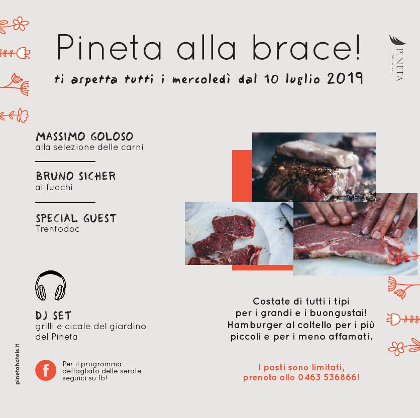 Programma nuovo Pineta alla Brace vi aspetta tutti i mercoledì dell'estate - Trentino-barbecue