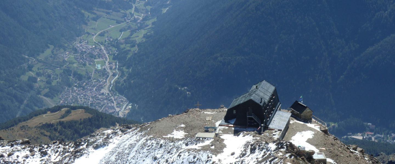Lo spettacolare panorama visibile dal Rifugio Vioz