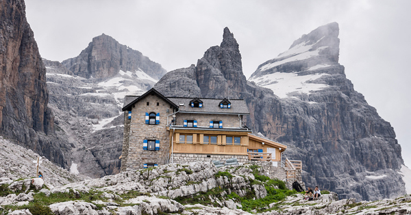 mountain huts alps dolomites italy