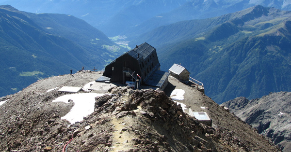 highest mountain huts in italian alps