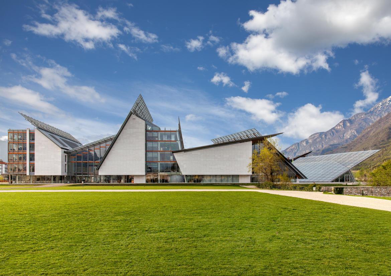 Il MUSE di Trento visto dall'esterno