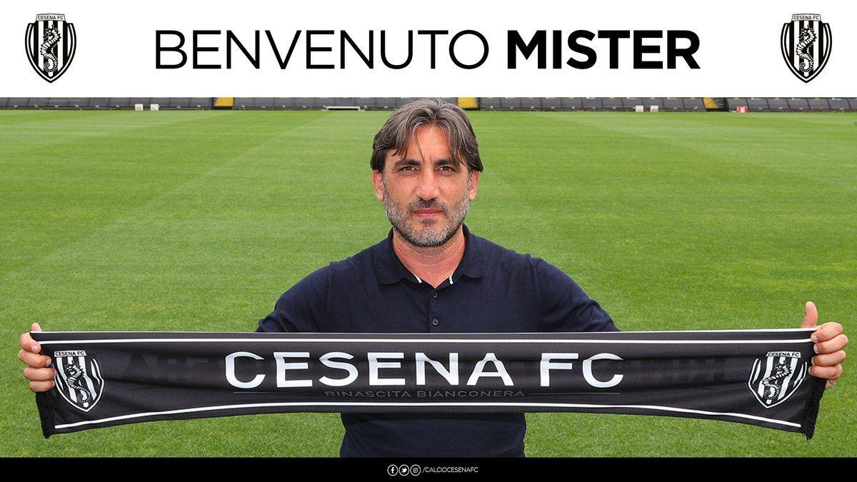 Foto di Francesco Modesto, coach del Cesena nella stagione 2019 - 2020 (immagine dal sito web alfredopedulla.com)