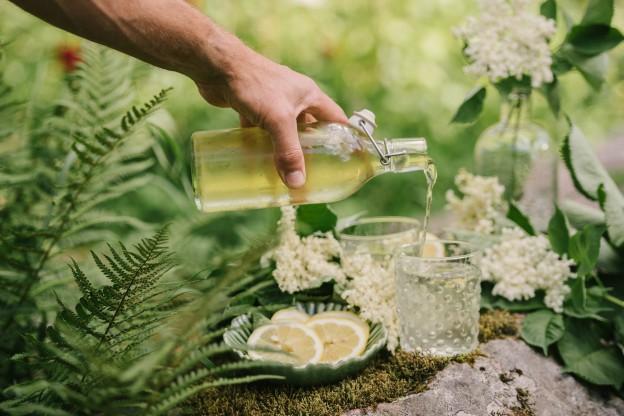 Prova lo sciroppo di sambuco, fresco e gustoso, ideale per l'estate e per un ottimo Hugo