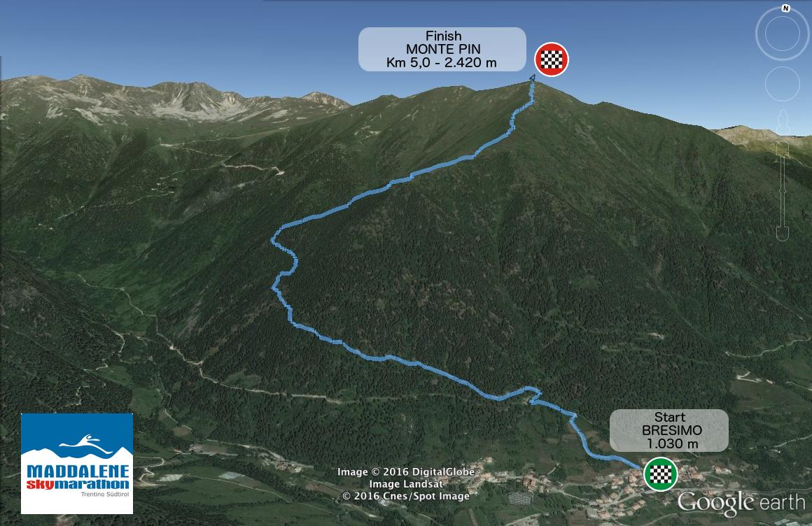 Mappa della Vertical Pin (foto dal sito maddaleneskymarathon.it)