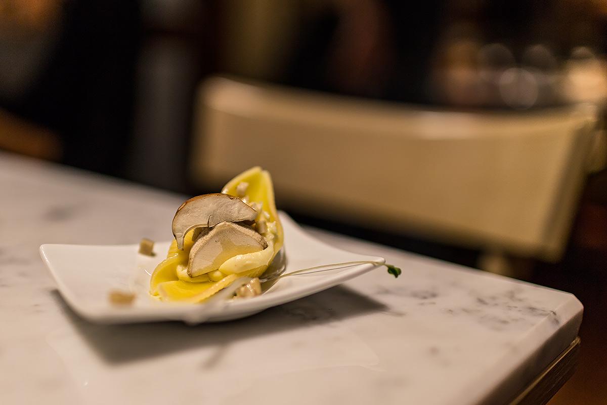 Dish from Pineta restaurant in Trentino Italy