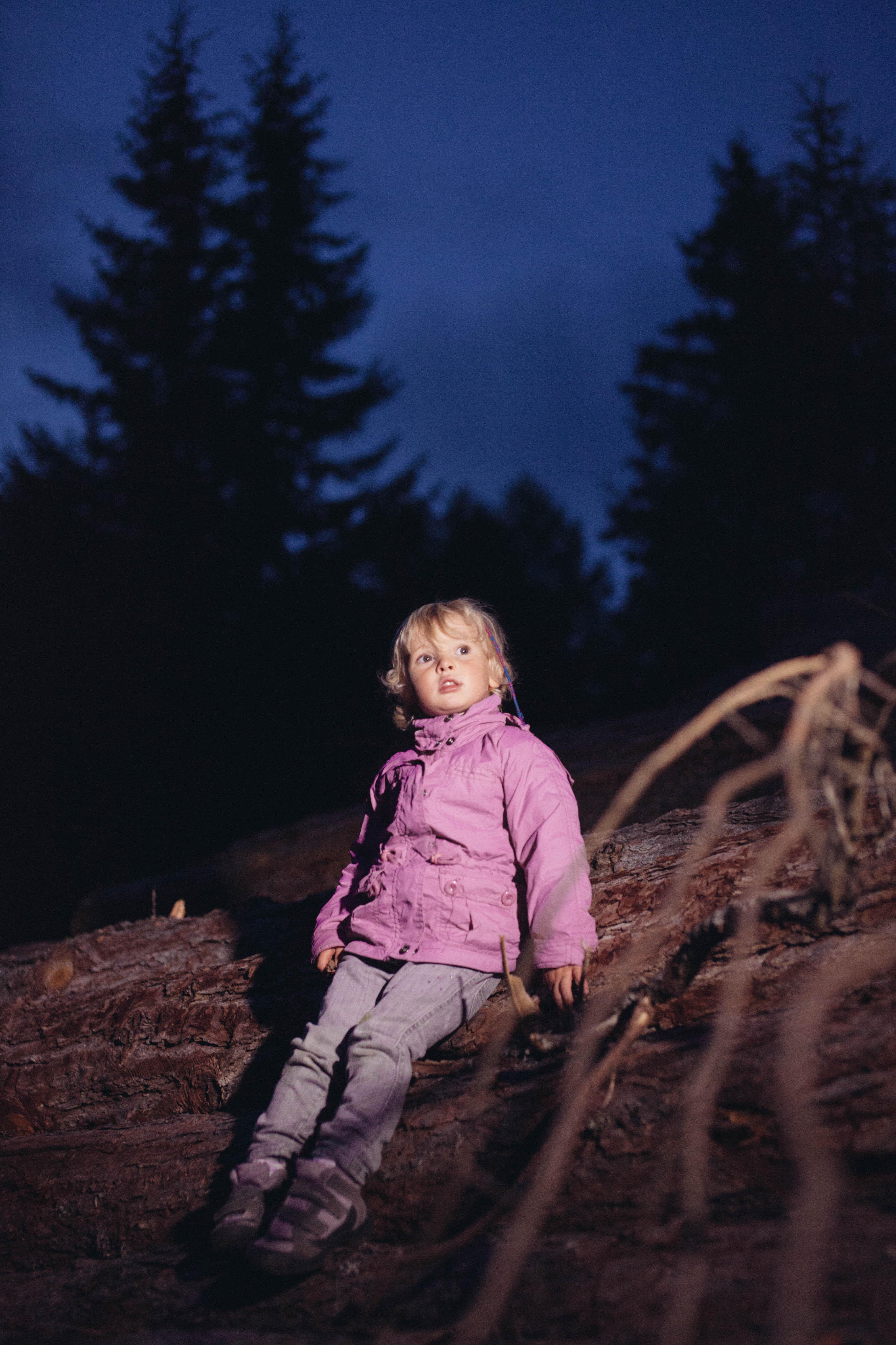 Andiamo a guardare le stelle o la luna piena nel bosco!