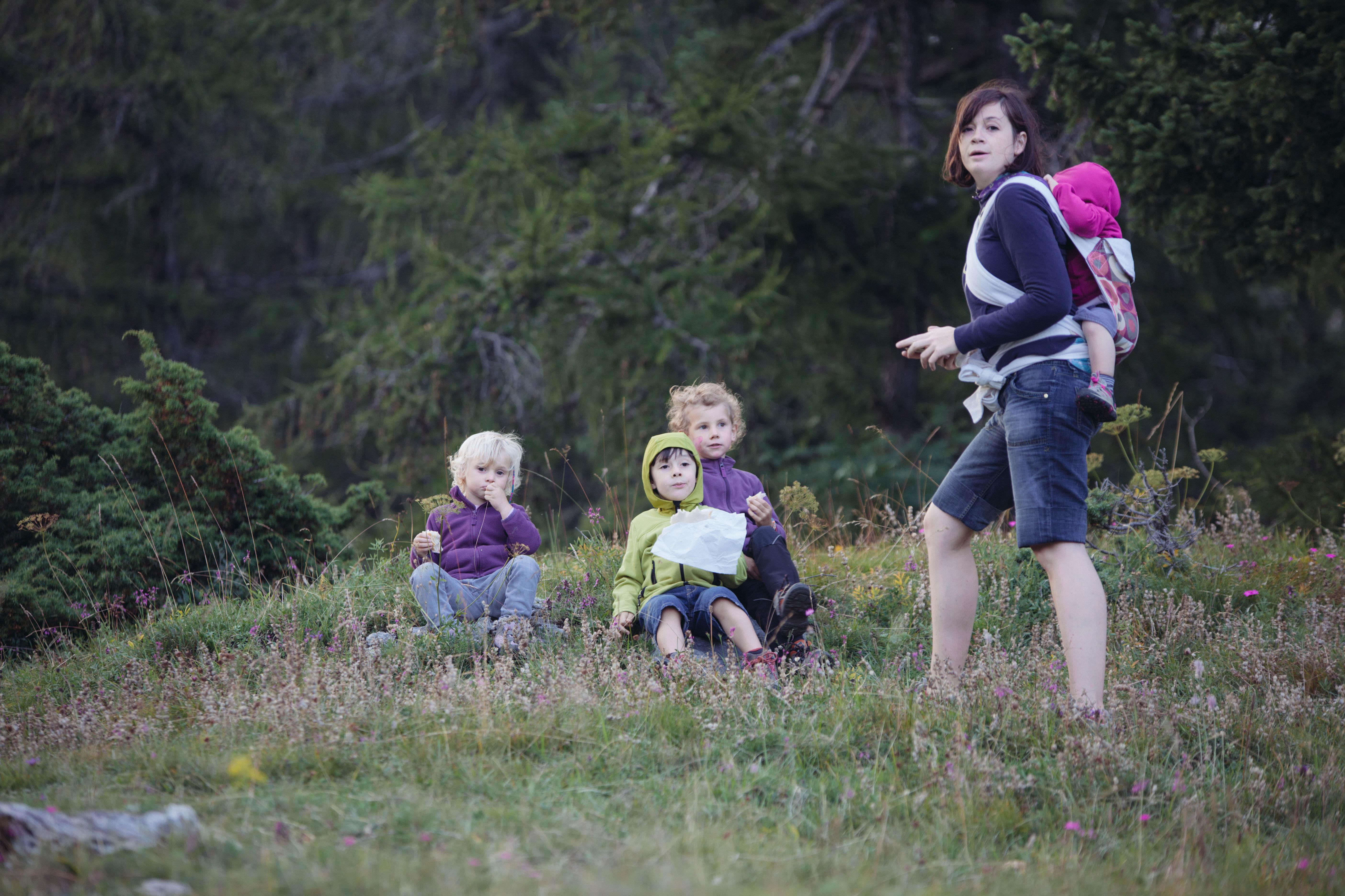A spasso con tutta la famiglia sulle nostre montagne.