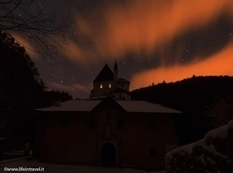 San Romedio al tramonto