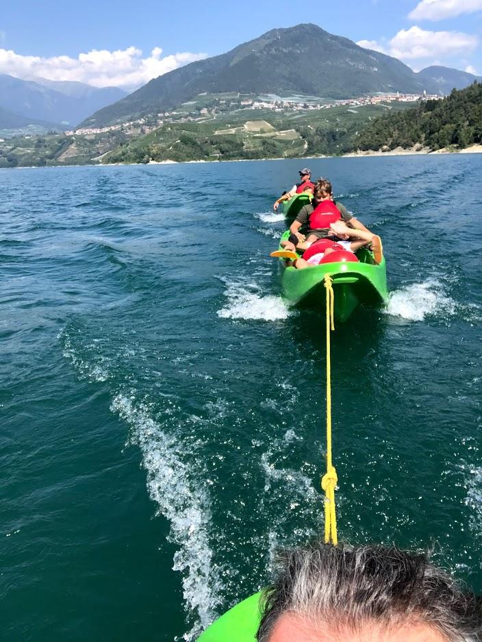 canoa-lago-santa-giustina-traino